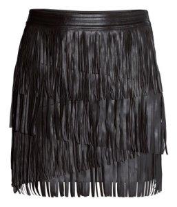 hm fringed skirt