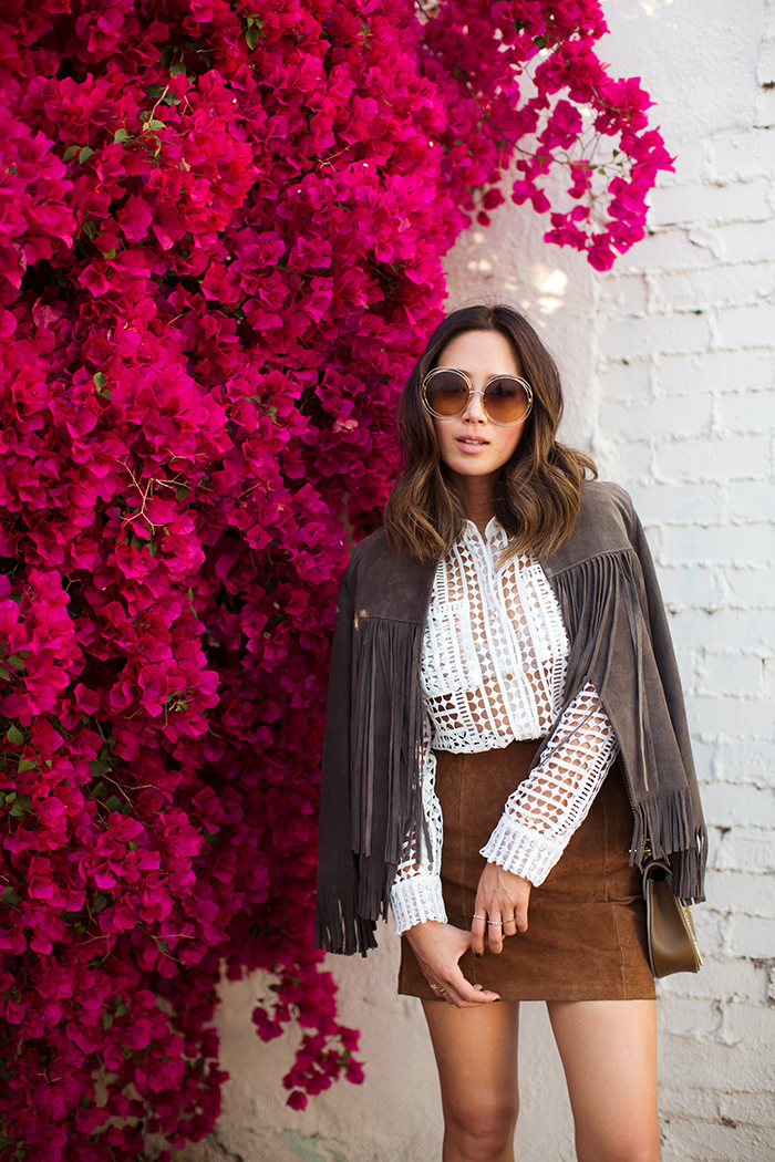 aimee_song_chloe_sunglasses_fringe_jacket_suede_skirt