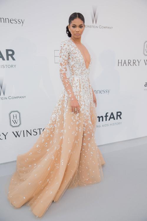Chanel Iman wearing Zuhair Murad haute couture