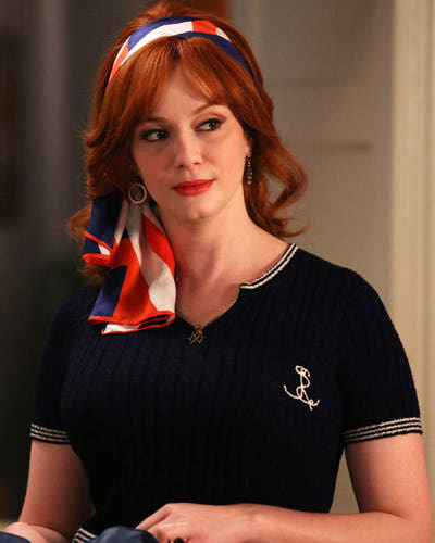 Mad-Men-Joan-Harris-Beach-Nautical-Top-Season-6-Episode-9-Michael-Yarish-AMC