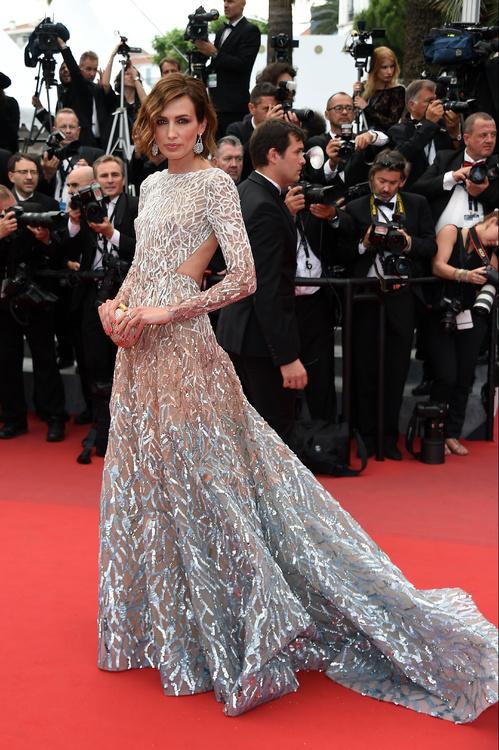 Nieves Alvarez wearing an Elie Saab haute couture